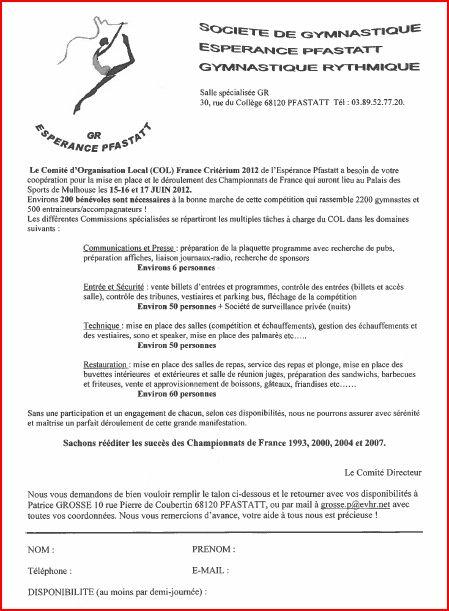 Bénévoles France DC 20122