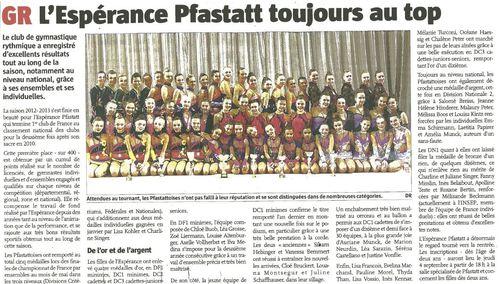 GR saison 2012-2013
